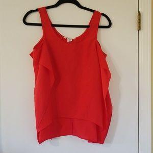 BCBGeneration Red Flowy Shirt